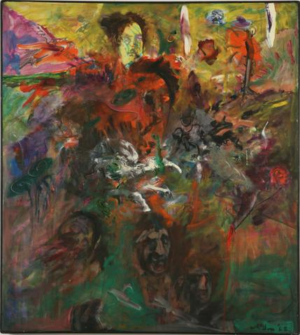 USA Oracle (Assassination of M.L. King) (1968) Oil on canvas  55.75h x 50w in (141.6h x 127w cm)