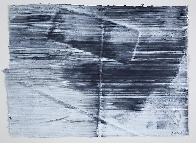 Site 5 (2011) Graphite and acrylic on rice paper 12.25h x 17w in (31.12h x 43.18w cm)