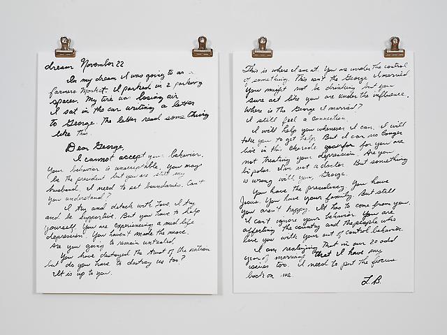November 22 – Letter  (2006) Ink on paper 9h x 12w in (22.86h x 30.48w cm)