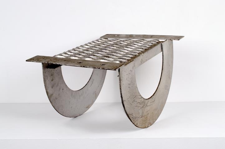 Untitled (c. 1971) Stainless steel 14.38h x 19.63w x 16d in (36.5h x 49.9w x 40.6d cm)