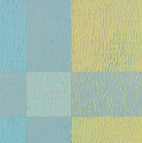 Three Five Eight #1 (Q3-75 #6) (1975) Acrylic on canvas 80h x 80w in (203.2h x 203.2w cm)