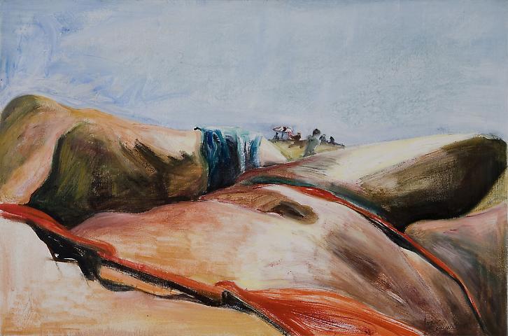 Joan Semmel Double Torso (1987) Oil on canvas: 20h x 30w in (50.8h x 76.2w cm)