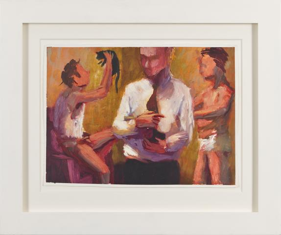 White Shirt and Tie II (1988) Oil on gessoed paper 11h x 15w in (27.9h x 38.1w cm)