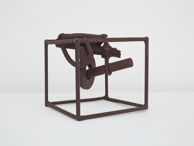 Untitled (Prototype II Three Small Sculptures) (1965-66) Welded steel 6.75h x 7.5w x 7.5d in (17.1h x 19.1w x 19.1d cm)