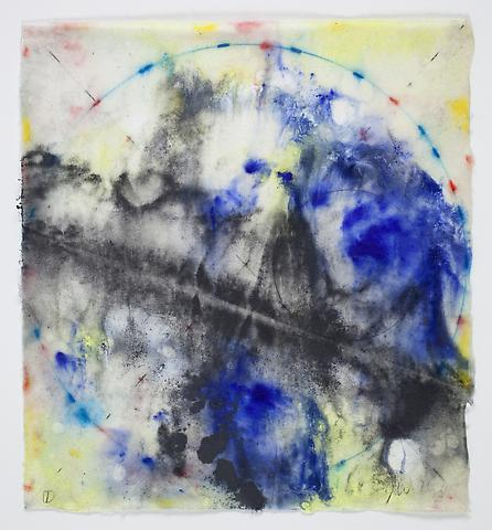 Saturation #1 (2011) Acrylic and graphite on rice paper 8.5h x 7.75w in (21.59h x 19.68w cm)