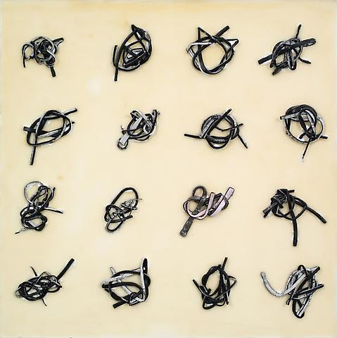 Slave Knots/ AKA Granny Knots (2012) Acrylic And Urethane On Panel 23.19h x 23.19w in (58.9h x 58.9w cm)