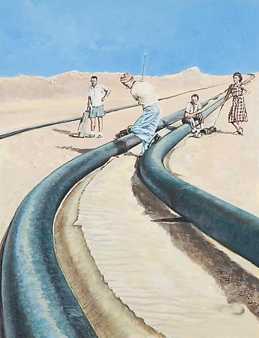 Saudi Arabia, 1948 (2006) Gouache on paper 28h x 21.5w in (71.12h x 54.61w cm)