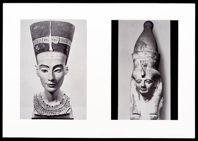 Miscegenated Family Album (Sibling Rivalry), L: Nefertiti; R: Nefertiti's sister, Mutnedjmet  (1980/1994) Cibachrome prints; Edition of 8 with 1 AP 26h x 37w in (66.04h x 93.98w cm)