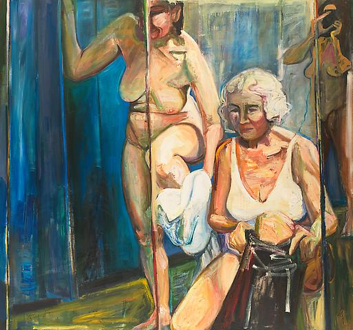 Cage of Mirrors (1991) Oil on canvas 68h x 72w in (172.72h x 182.88w cm)