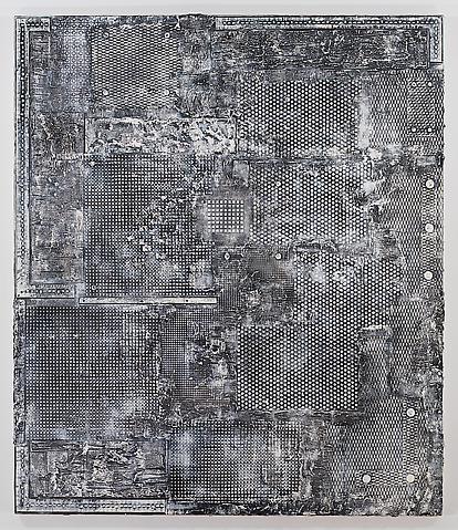 U.S.A. Oracle (1986) (1986 ) Acrylic on canvas 84h x 72w in (213.36h x 182.88w cm)