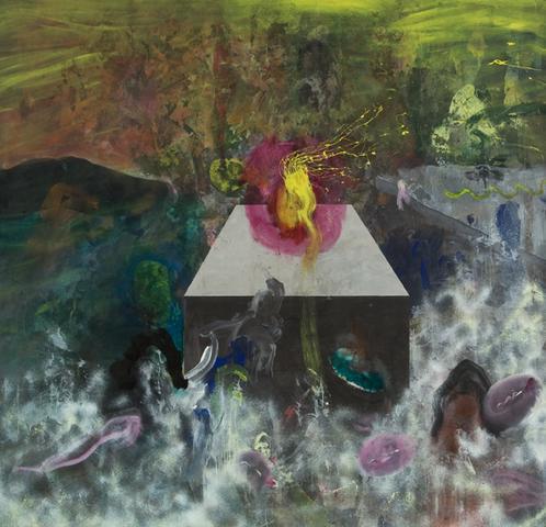 Satori (1969) Acrylic on canvas 105h x 109w in (266.7h x 276.9w cm)