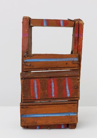 Punch and Judy Theater (1975) Acrylic on wood 8h x 9.5w x 6.5d in (20.3h x 24.1w x 16.5d cm)