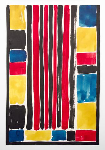 "Untitled, from the ""Abstracts"" series (n.d.) Watercolor and ink on paper  22.5h x 15w in (57.2h x 38.1w cm)"