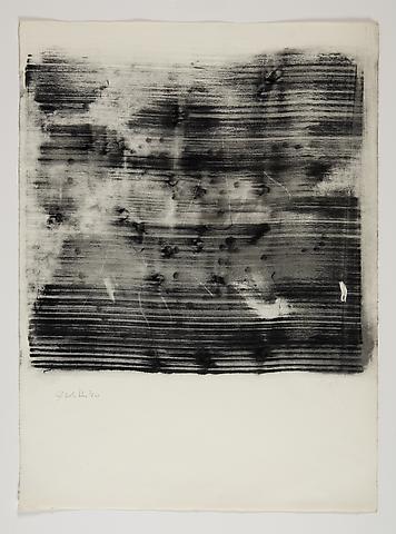 Study for Omalos #6 (1974) Toner on paper 25.75h x 19w in (65.41h x 48.26w cm)