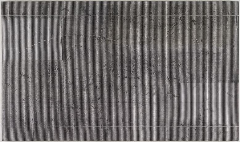 Taf I (1978) Acrylic on canvas 40.25h x 68.25w in (102.2h x 173.4w cm)