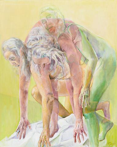 Triple Play (2011) Oil On Canvas 60h x 48w in (152.4h x 121.92w cm)