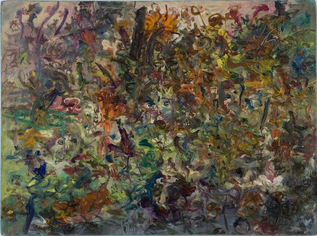 Garden In Bessemer II (1968) Oil on canvas 36h x 48w in (91.4h x 121.9w cm)