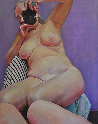 Violet Ground (2004) Oil on canvas 68h x 48w in (172.72h x 121.92w cm)