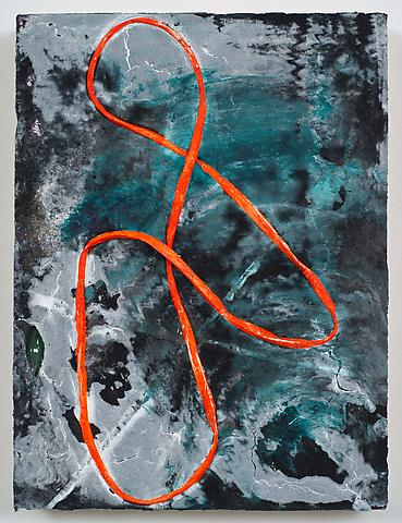 Loop #39 (2012) Acrylic on panel 12h x 9w in (30.48h x 22.86w cm)