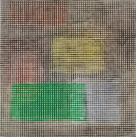 The Annunciation XV (1979) Acrylic on canvas 16h x 16w in (40.6h x 40.6w cm)