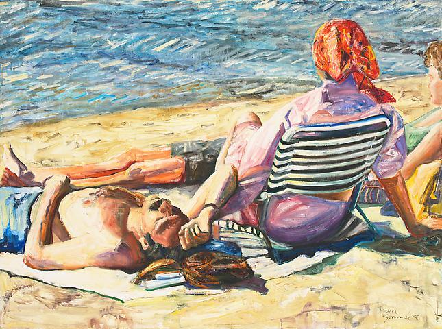 Respite (1987) Oil on canvas 36h x 48w in (91.44h x 121.92w cm)