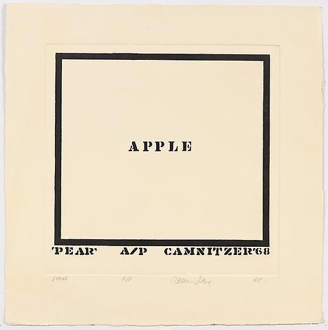 Lemon (1968) Etching 24.5h x 24w in (62.2h x 61w cm)