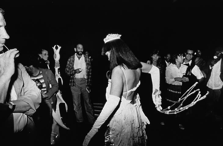 Untitled (Crowd Watches Mlle Bourgeoise Noire Whipping Herself) (1980-83/2009) Silver gelatin print; Edition of 20 with 2 AP