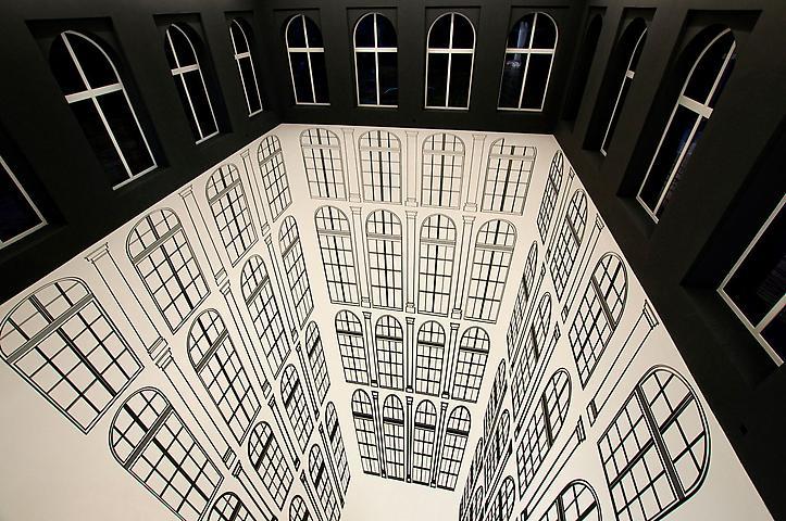 Regina Silveira; Depth Abyssal (2010) Installation view; Atlas Sztuki Foundation