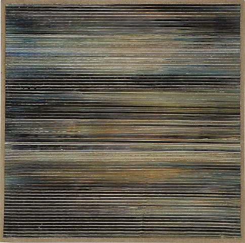 Untitled (1970) Acrylic on linen 25.63h x 23.75w in (65.1h x 60.33w cm)
