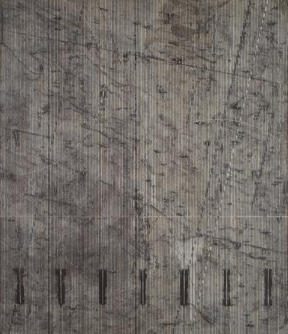 Gamma Group II (1975) Acrylic on canvas 83.8h x 72w in (212.9h x 182.9w cm)