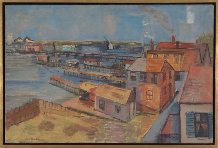 View of Bay, Provincetown (1931) Oil on canvas 20.13h x 30.06w in (51.1h x 76.4w cm)