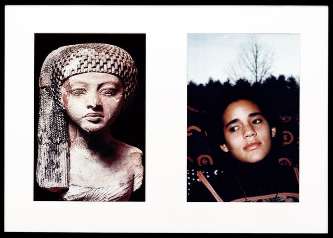 Miscegenated Family Album (Worldly Princesses), L: Nefertiti's daughter, Merytaten; R: Devonia's daughter, Kimberley  (1980/1994) Cibachrome prints, 26h x 37w in (66h x 94w cm) Edition of 8 with 1 AP