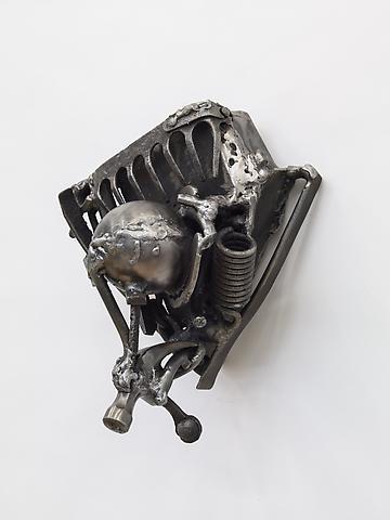 John Henry for John Scott (2012) Welded steel 12h x 11.5w x 7.88d in (30.48h x 29.21w x 20.02d cm)