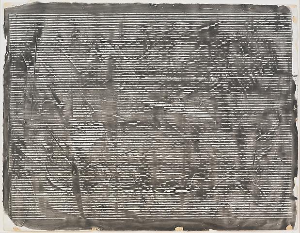 Study for Greek Alphabet Series #5 (1977) Acrylic on paper 20h x 26w in (50.8h x 66.04w cm)