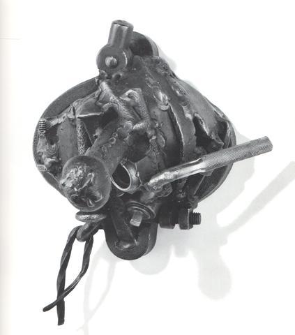 Igun Hammer (1981) Welded steel 9h x 9.25w x 9.25d in (22.9h x 23.5w x 23.5d cm)