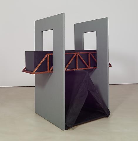 Tomb for Walt Whitman (2014) Concrete, wood, acrylic, fabric 80h x 76w x 48d in (203.2h x 193w x 121.9d cm)