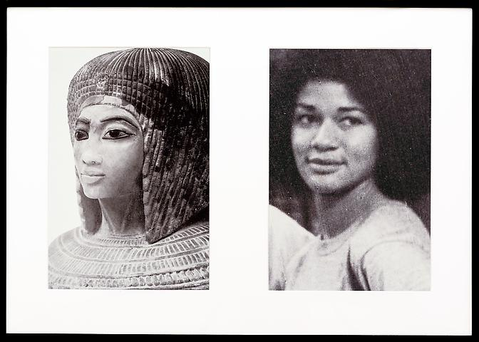 Miscegenated Family Album (Sisters II), L: Nefertiti's daughter Merytaten; R: Devonia's daughter  (1980/1994) Cibachrome prints; Edition of 8 with 1 AP 26h x 37w in (66.04h x 93.98w cm)