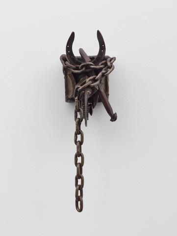 Amandla (1981) Welded Steel 22.75h x 7.63w x 10.5d in (57.8h x 19.4w x 26.7d cm)