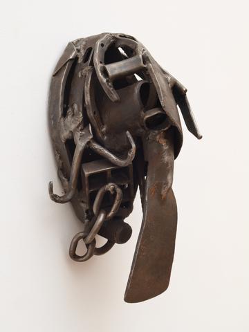 Bara Niasse Tugge  (2008) Welded steel 14.5h x 6.5w x 6.8d in (36.8h x 16.5w x 17.3d cm)