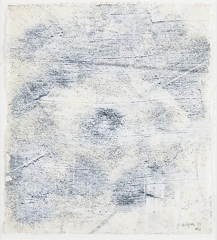 Nemesis 2 (2011) Graphite and acrylic on rice paper 14h x 12.25w in (35.56h x 31.12w cm)
