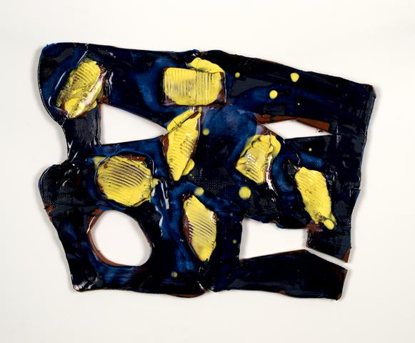 Polly Apfelbaum, <i>Benjamin</i> (2016) Ceramic 15h x 12w in (38.1h x 30.5w cm)