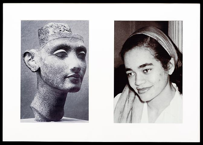 Lorraine O'Grady; Miscegenated Family Album (Young Queens), L: Nefertiti, age 24; R: Devonia, age 24  (1980/1994) Cibachrome prints; 26h x 37w in (66.04h x 93.98w cm); Edition of 8 with 1 AP