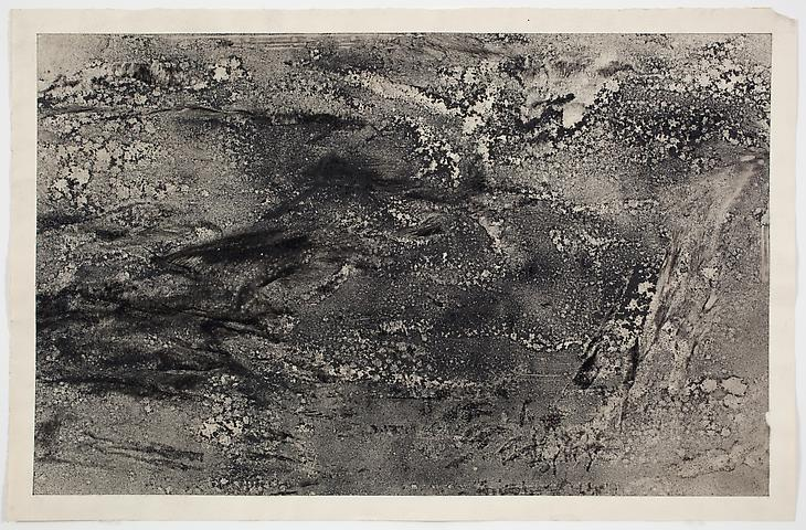Dispersal #6 (1971) Dry pigment on paper 13h x 20w in (33.02h x 50.8w cm)