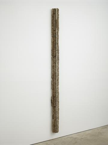 Leonardo Drew, <i>Number 177</i> (2015) Wood, paint 100h x 6.5w x 5d in (254h x 16.5w x 12.7d cm)