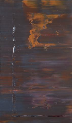 Chinese Sincerity (1974) Acrylic on canvas 67.5h x 40w in (171.45h x 101.6w cm)