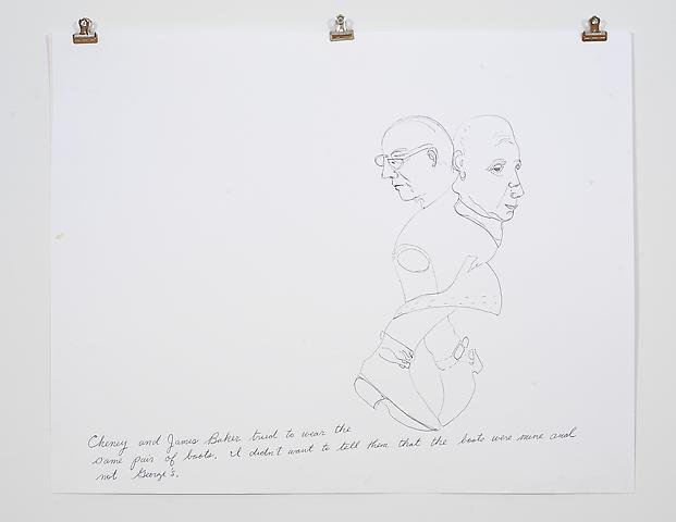 Laura Bush Dream Quartet-2 (2006) Ink on paper 19h x 24w in (48.26h x 60.96w cm)