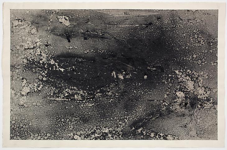 Dispersal #5 (1971) Dry pigment on paper 13h x 20w in (33.02h x 50.8w cm)