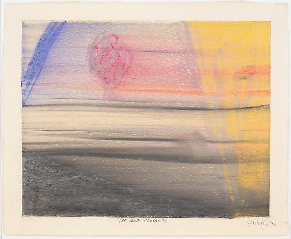 The Tenth Iceberg #6 (1972) Pastel on paper 13h x 16w in (33.02h x 40.64w cm)