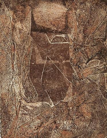 Pressed Space 25 (1971) Oil on paper 13h x 10w in (33.02h x 25.4w cm)