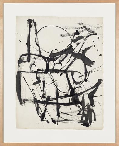 Untitled (House of the Sun Series) (c. 1952) Ink on paper 26h x 20w in (66h x 50.8w cm)